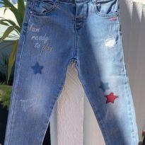 Calça jeans Zara baby destróier com bordados - 24 a 36 meses - Zara Baby