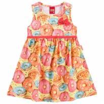 Vestido Infantil Doce Infância Laranja - Kyly - 2 anos - Kyly