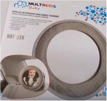 ESPELHO RETROVISOR PARA BANCO TRASEIRO BABY LOOK MULTIKIDS BABY - BB181 - Sem faixa etaria - Multikids Baby