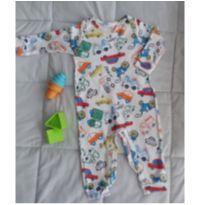 Macacão comprido Up Baby carrinhos. Conforto e estilo!! - 0 a 3 meses - Up Baby