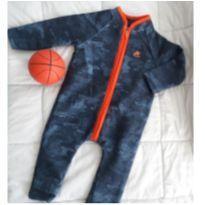 Macacão Longo Moleton Flanelado Up Baby - 6 a 9 meses - Up Baby