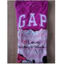 Kit camiseta manga longa - 7 anos - H&M e GAP