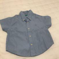 Camisa baby Benetton - 3 a 6 meses - Benetton