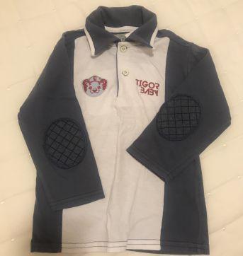 Camisa polo manga longa Tigor - 18 a 24 meses - Tigor T.  Tigre