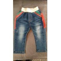 Calça Jeans - 9 a 12 meses - Não informada