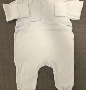 Macacão manga longa azul - 0 a 3 meses - Zara
