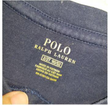 Camiseta Azul Polo Ralph Lauren - 2 anos - Ralph Lauren e Polo