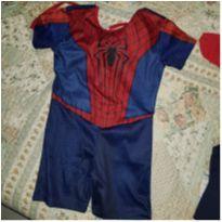 Fantasia homem aranha - 4 anos - homem aranha