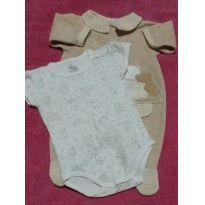 Macacão ursinhos + body - 0 a 3 meses - Anjos baby