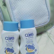 Kit baby care Avon - necessaire , sabonete liquido e hidratante -  - avon