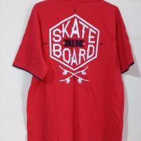Camuseta vermelha Kyly Skate Board tam 14