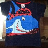 Camiseta tubarão - 1 ano - Kidstok