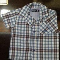 Camisa xadrez azul - 3 a 6 meses - Up baby