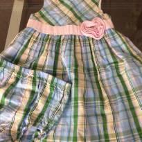 Vestido xadrez verde e azul - 2 anos - Hartstrings