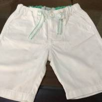 Bermuda branca e verde - 18 a 24 meses - Baby Club