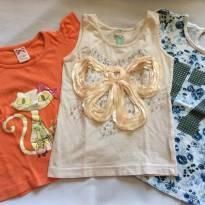 Trio camisetas fofas - 24 a 36 meses - Variadas
