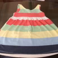 Vestido listrado colorido - 1 ano - Quimby