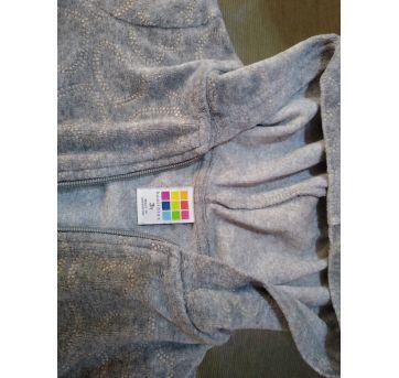 Blusão de plush cinza com corações - 3 anos - Healthtex