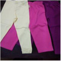 Trio de calças para meninas - 2 anos - Variadas