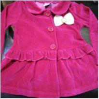 Casaco veludo pink escuro - 1 ano - Angerô