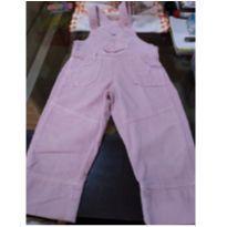 Jardineira de veludo cotele rosa bebê - 4 anos - Bakulelê
