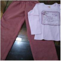 Kit calça e camiseta - 3 anos - Não informada e Beijinho