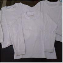 Kit 3 camisetas brancas - 3 anos - Mafessoni