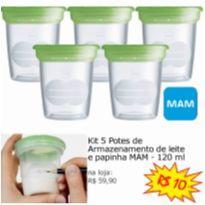 Kit 5 Potes Armazenamento De Leite ou Papinha MAM 120ML -  - MAM