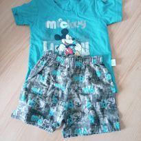 Conjunto verão camiseta e shorts Disney mickey - 9 meses - Brandili e Disney baby
