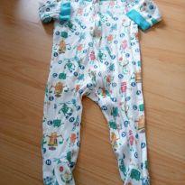 Macacão pijama robozinho baby urb - 6 a 9 meses - Outros