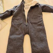 Macacão para frio intenso cinza - 3 a 6 meses - Prenatal
