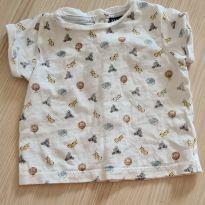 Camiseta manga curta safari - 3 meses - Kiabi