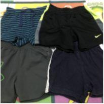 quarteto de shortinhos de praia - 9 meses - Baby Gap e Nike