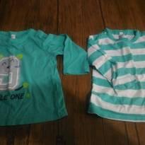 Kit 2 camisetas manga longa - 1 ano - Tex