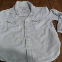 Camisa social branca, super levinha - 18 a 24 meses - Baby Club