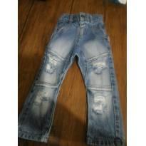 Calça jeans destroyed Stylish for Kiss - a marca preferida dos mini blogueirinho - 12 a 18 meses - Stylist For Kids SFK