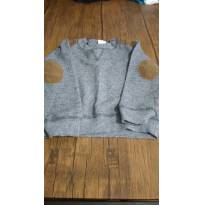 Suéter em malha, com apliques no cotovelo. - 12 a 18 meses - Teddy Boom
