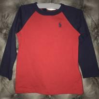 Blusa manga longa vermelha e azul marinho Pólo Ralph Lauren - 1 ano - Ralph Lauren