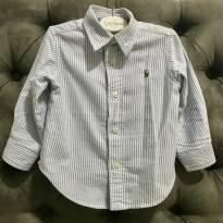Camisa social listrada Ralph Lauren - 1 ano - Ralph Lauren
