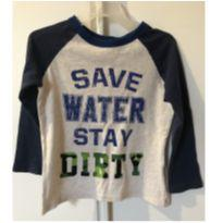 "Blusa de Manga Comprida GAP ""SAVE WATER STAT DIRTY"" - 3 anos - Baby Gap"