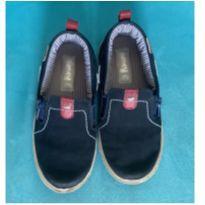 Mocassim slip on de couro azul marinho Kimey - 27 - Kimey