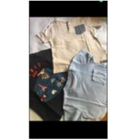 Lote 3 camisetas GAP e RICHARDS - 4 anos - GAP e Richards Kids