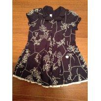 Vestido Floral marinho Chicco - 6 meses - Chicco