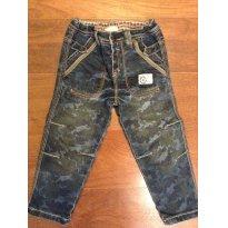 Calça Jeans camuflada Chicco - 2 anos - Chicco