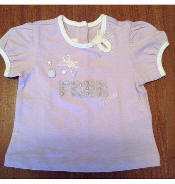 Blusa lilás Chicco - 3 meses - Chicco