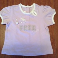 Blusa lilás Chicco - 3 meses - Chicco