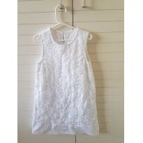 Vestido branco Gymboree - 7 anos - Gymboree