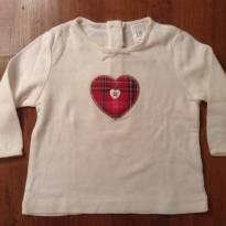 Blusa coração Gap - 3 meses - GAP