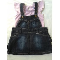 Vestido Tip Top - jardineira - 9 a 12 meses - Tip Top