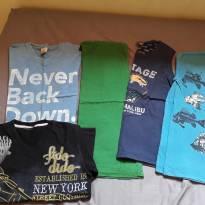 Lote camisetas Tam 6 - 6 anos - Não informada